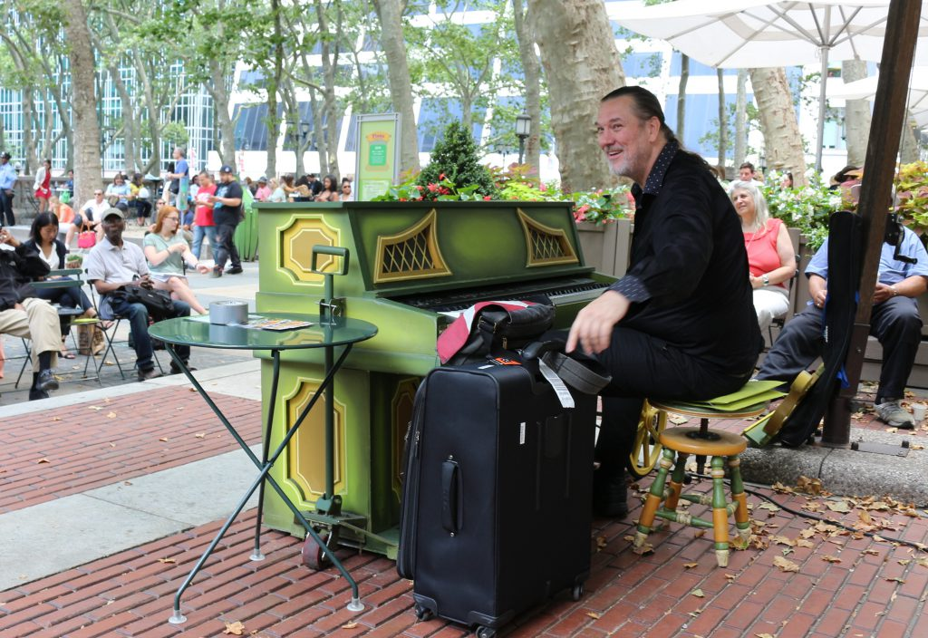 Jon Weber at Piano in Bryant Park